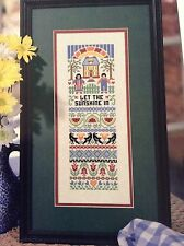 Let the Sunshine In counted cross stitch magazine pattern, fabric & floss lot