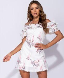 Women-Boho-Floral-Summer-Casual-Party-Evening-Beach-Short-Mini-Dress-Sundress