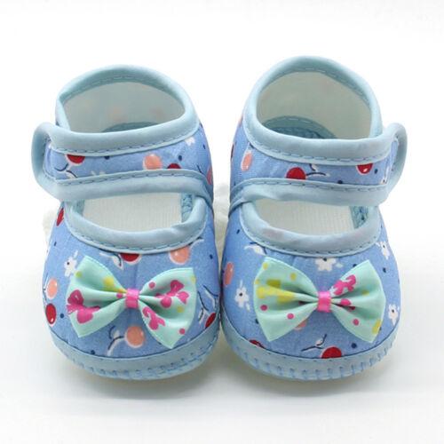 Newborn Infant Baby Bow Girls Soft Sole Print Prewalker Warm Cotton Flats Shoes