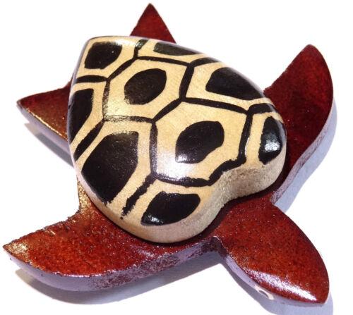 Magnet Aimant Tortue Bois Frigo Artisanal Animal Turtle Peint wooden
