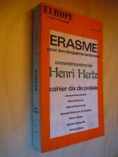 Revue Europe Erasme Henri Hertz Sernet Décaudin Stern..