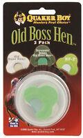 Quaker Boy Turkey Call - Old Boss Hen 3 Pack