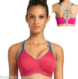 a09d8b4b89 Freya Active AA4892 Hot Crimson Moulded Underwired Sports Bra 30 .