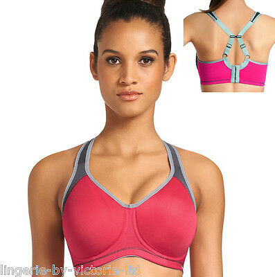 Freya Active AA4892 Hot Crimson Moulded Underwired Sports Bra 30 to 38 DD-H Cups