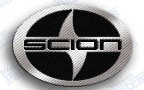 SCION 100/% EMBROIDERED AUTO CAR IRON ON EMBROIDERY PATCH   2.3 X 1.7 INCHES