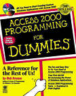 Access 2000 Programming For Dummies by Rob Krumm (Paperback, 1999)