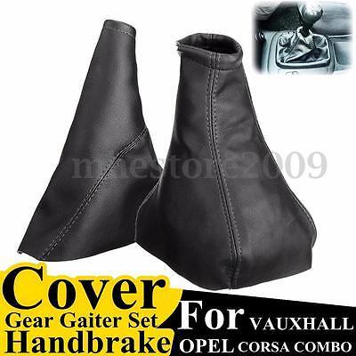 Black Handbrake Gear Gaiter Dust Cover Set For Opel VAUXHALL CORSA 1993-2000