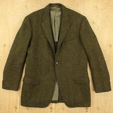 vtg 50's 60's HARVARD COOP wool tweed blazer jacket sz 38-40 / MEDIUM green ivy