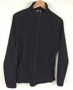 Old-Navy-Women-Junior-Fleece-Jacket-Size-L-Black-Long-Sleeve-Full-Zip-2-Pockets