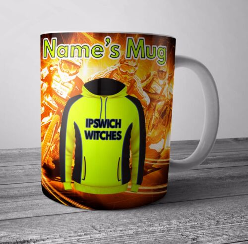 Ipswich Witches Themed Gift Cup Speedway Personalised Mug Any NAME