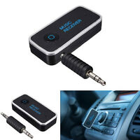 12V Car Wireless Bluetooth 3.5mm AUX Audio Stereo Music Receiver Mic Speaker Kit