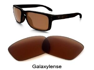 d915495422 Image is loading Galaxy-Replacement-Lenses-For-Oakley -Holbrook-Sunglasses-Brown-