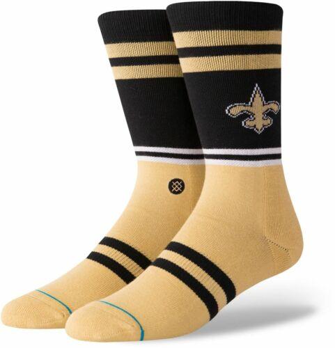 Black//Gold//White Stance NFL Men/'s New Orleans Saints Logo Socks