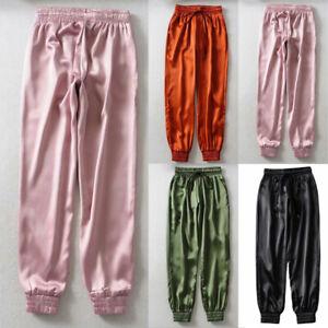 Mujer Haren Sueltos Hip Hop Dance Jogger Sweatpants Casual Sports Pantalones Largo Ebay