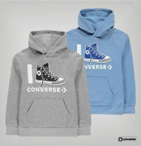 Garcons-Converse-KANGAROO-en-polaire-brossee-Love-Sweat-a-Capuche-Tailles-Age-De-8-To-15-ans