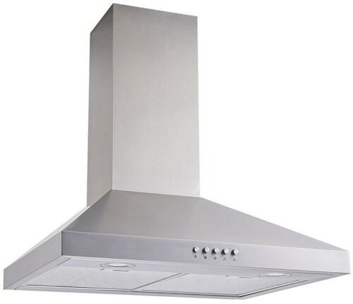 Range Hood 30 in Stainless Steel Convertible Wall Mount With Mesh Filters
