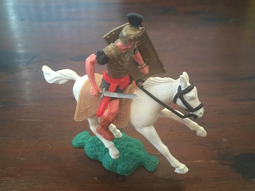 Timpo Mounted Roman (5) - Toy Soldier - 1960's