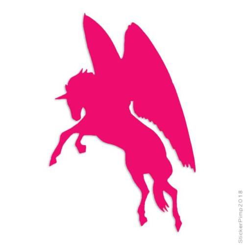 Size #513 Flying Horse Pegasus Decal Sticker Choose Color