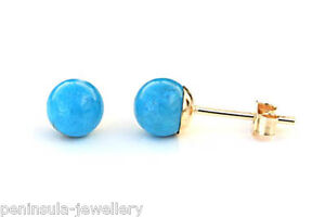 9ct-Gold-Turquoise-5mm-Stud-earrings-Gift-Boxed-Made-in-UK