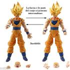 GOKU - 2 PERSONAGGI -16Cm.- Dragon Ball Z Super Sayan Figure Modellino Statuina