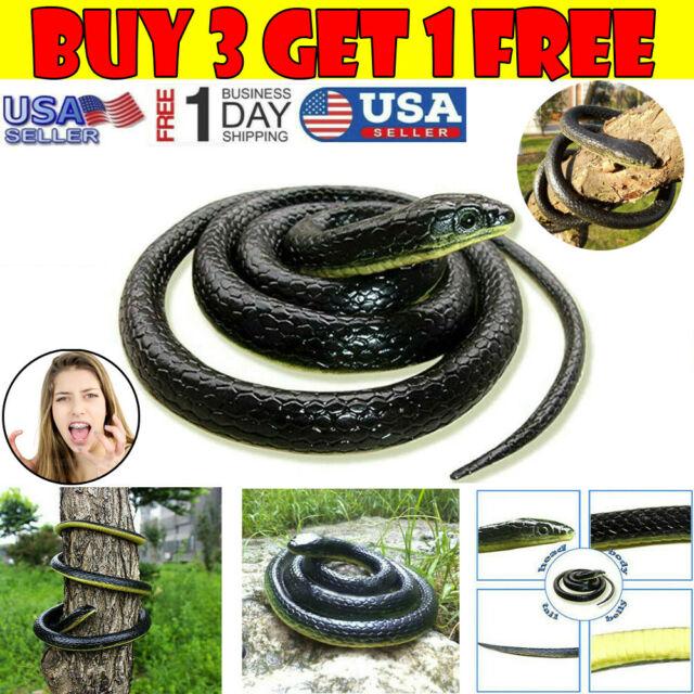 Halloween Prank Gift Props Fake Snakes Realistic Safari Joke Rubber Toy Garden