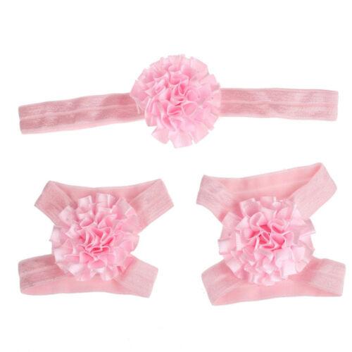 Girls  Sandals Headband Baby Set Barefoot Accessories Elastic Cute Hair Band