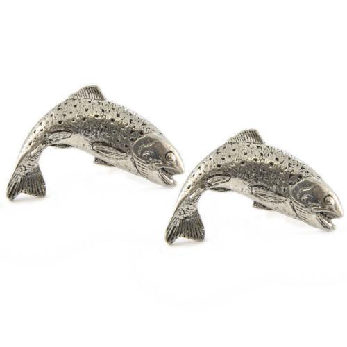 Tradicional trucha Estaño Inglés gemelos en caja de regalo de pesca Angler tsbcf01 Nuevo