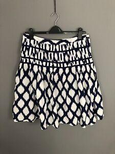 LAURA-ASHLEY-Skirt-Size-UK18-Navy-amp-White-Great-Condition-Women-s