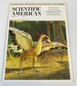 Scientific American Magazine Feb 1998 Both Bird & Dinosaur String Theory Vintage