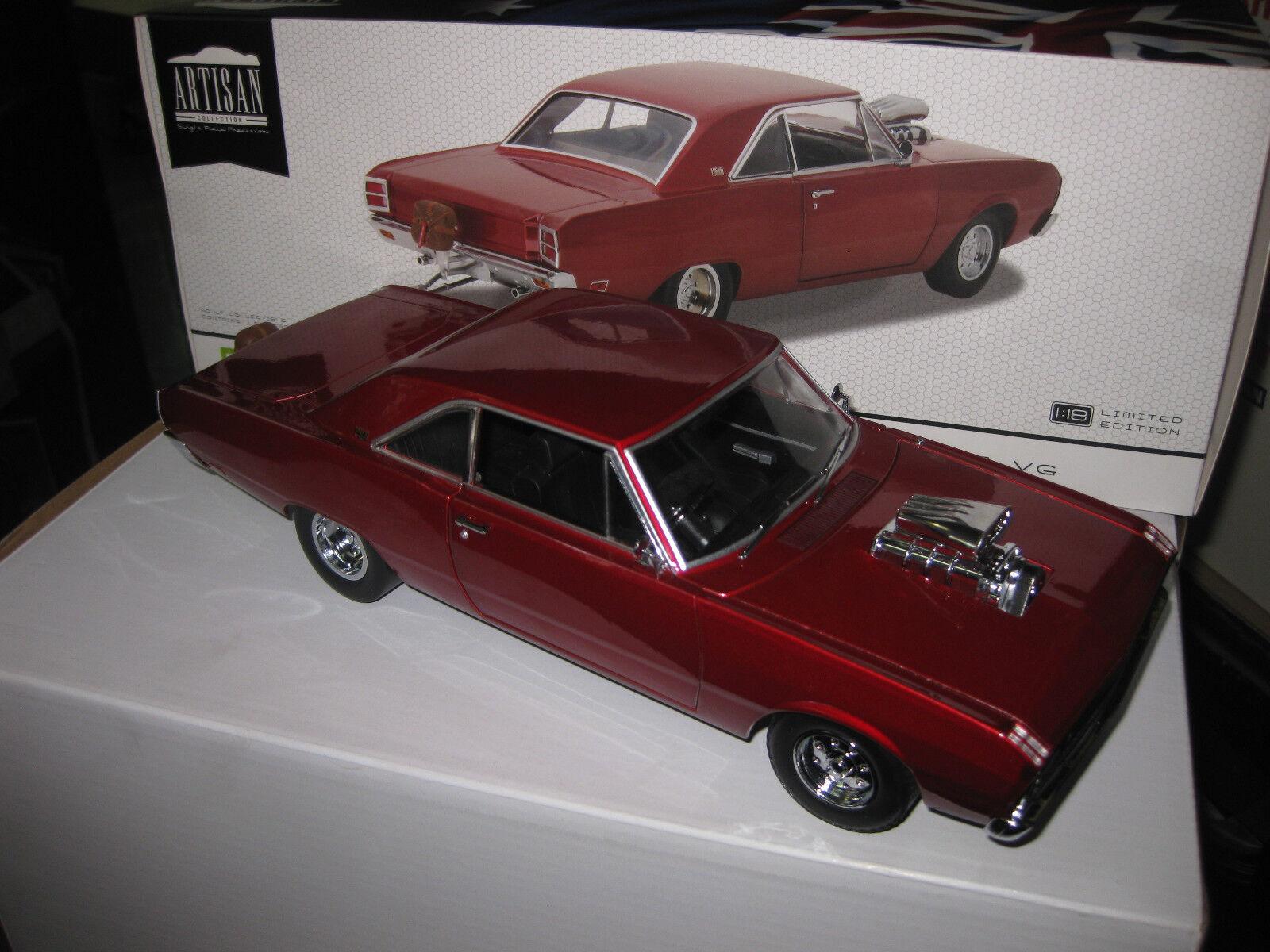1/18 verdeLIGHT DDA 1970 CHRYSLER VALIANT VG PACER  HEMI DRAG CAR rosso LTD ED