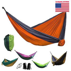2-Person-Outdoor-Camping-Nylon-Hammock-Parachute-Hanging-Bed-Sleeping-Swing-New