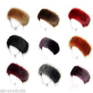 6439ebe8d46 Ladies Faux Fake Fur HeadBand Hat Winter Earwarmer Hat Ski Fox NEW ...