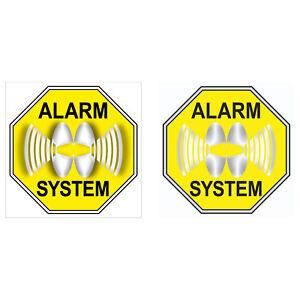 Set Système D'alarme Autocollant 5 Cm Jaune Brodeuses Coller Les Deux Parties Lisible-afficher Le Titre D'origine Haut Niveau De Qualité Et D'HygièNe
