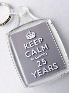Anniversario 25 Di Matrimonio.Keep Calm 25th Argento Anniversario Di Matrimonio Portachiavi