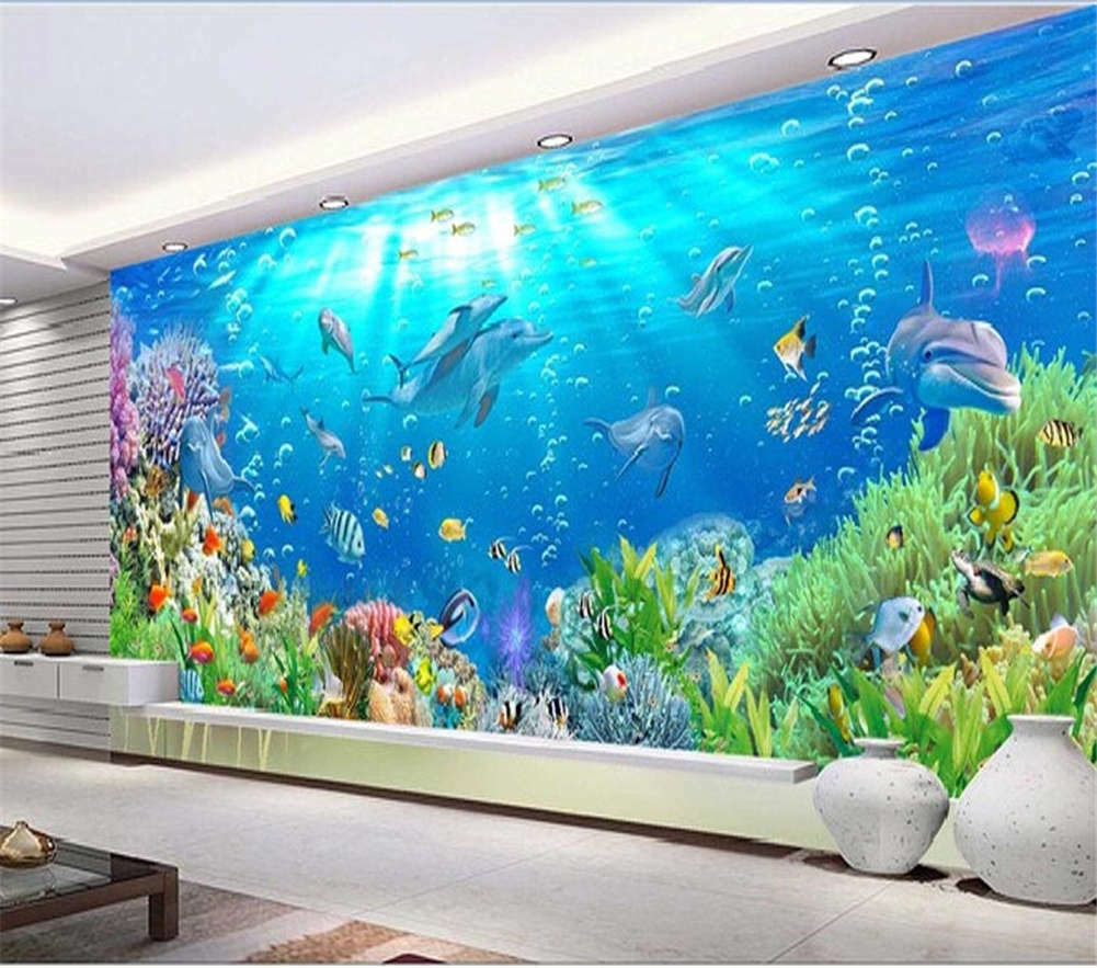 The Bottom Of Sea Team 3D Full Wall Mural Photo Wallpaper Print Home Kids Decor