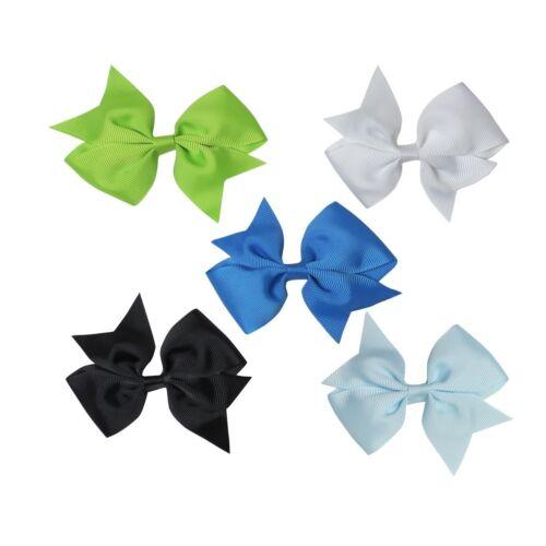 20PCS Handmade Bow Hair Clip Alligator Clips Girls Ribbon Kids Sides Accessories