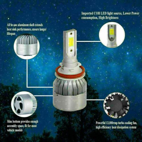 H11 9006 9005 9000W Combo LED Headlight  Hi//Lo Beam Bulbs 6000K White Lamps S2