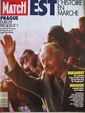 PARIS MATCH N° 2115 HONGRIE DUBCEK BUCAREST MOSCOU VOILE VENDEE GLOBE 1989