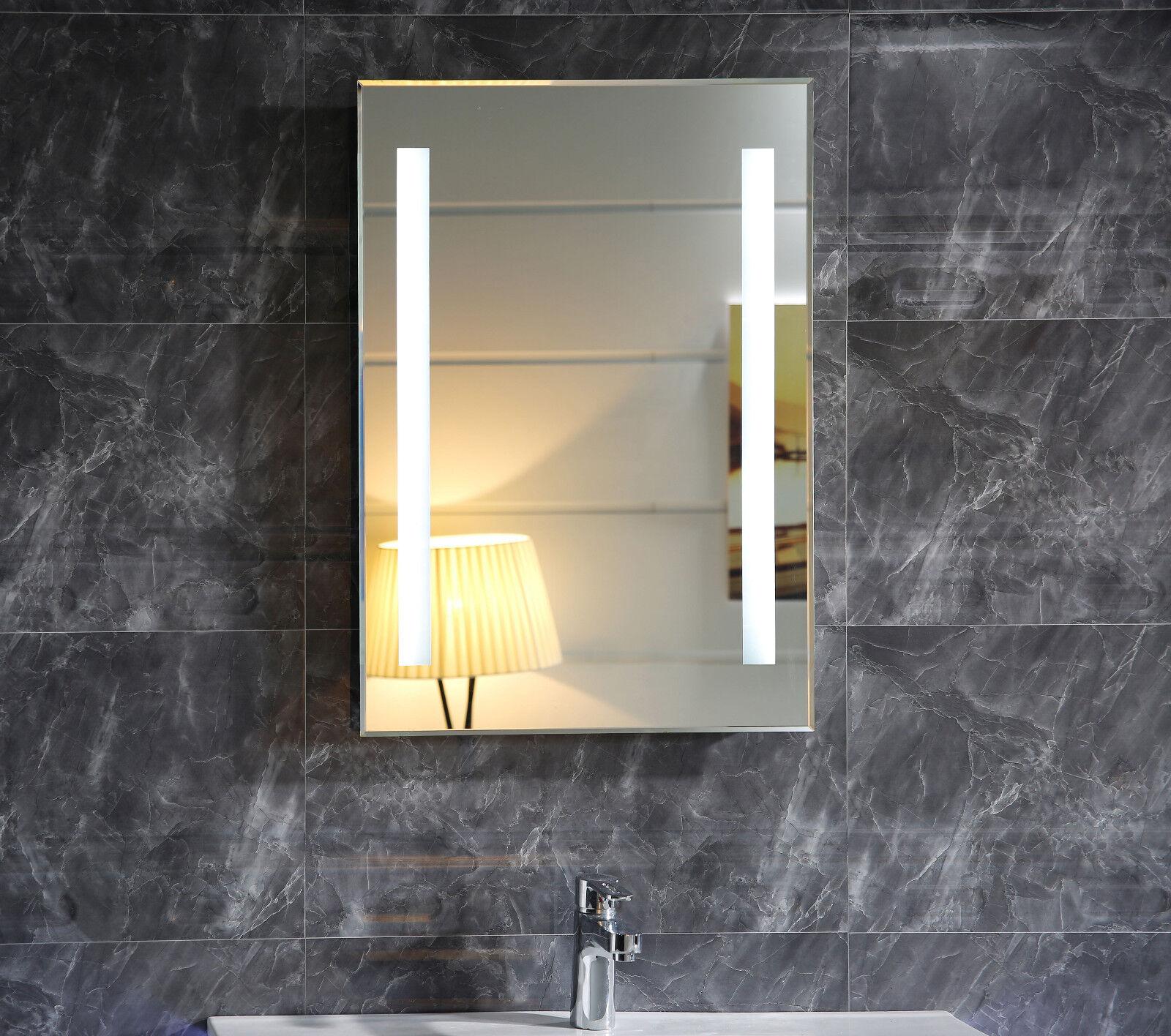 LED Badspiegel mit Beleuchtung GS055N - (B) 50 cm x (H) 70 cm