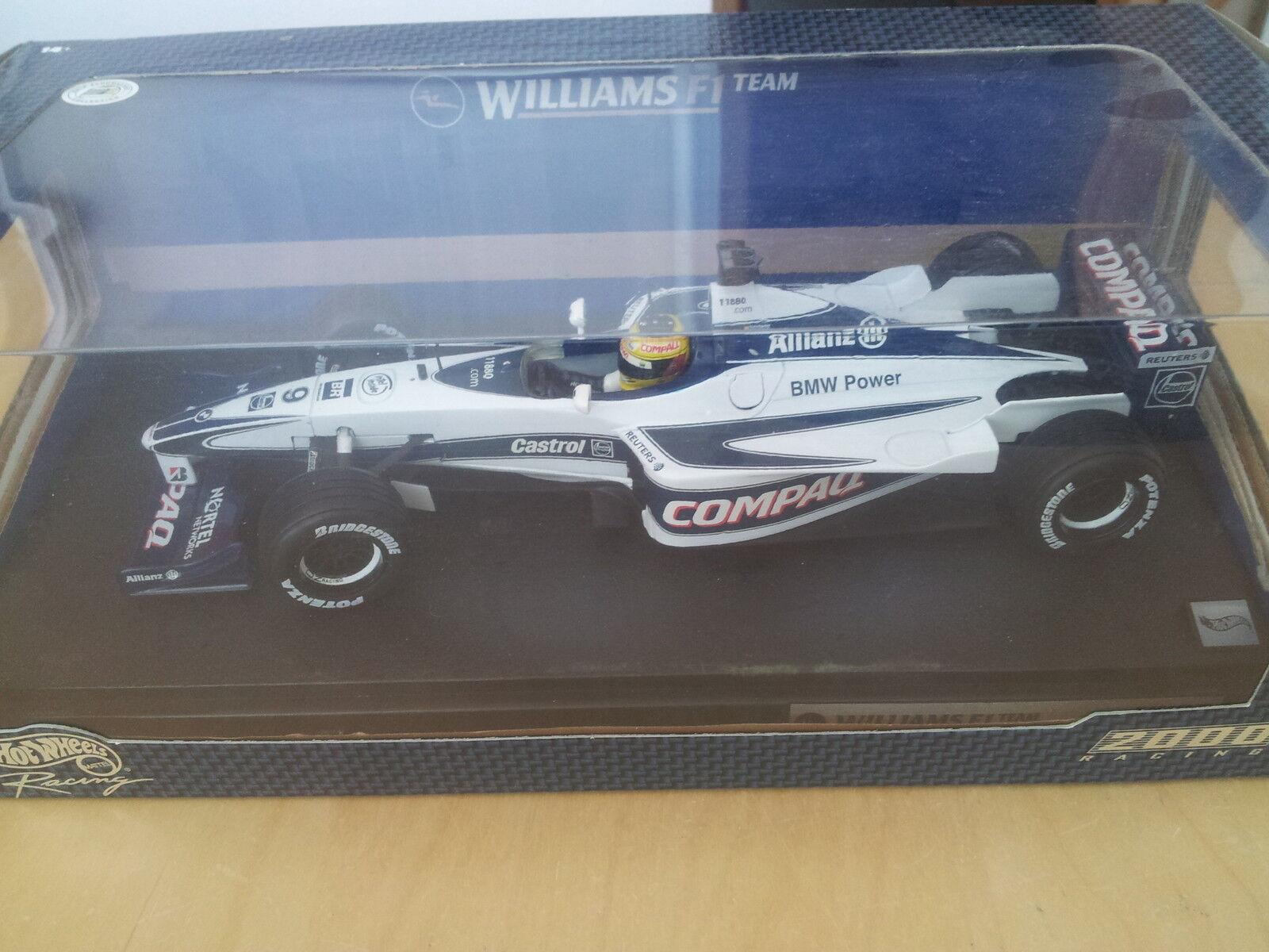 HOT WHEELS RACING 1 18 - f1 Williams BMW (Ralf Schumacher) - NEUF & neuf dans sa boîte