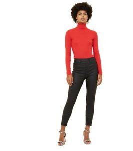 cb7a64cf2edfb Ladies Ex New Look Jeggings Womens Black Leggings Skinny Leather Wet ...