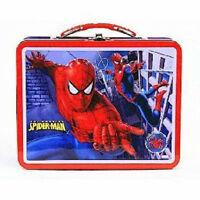 Spider-man Spiderman Lunchbox Metal Great Power Great Responsibility