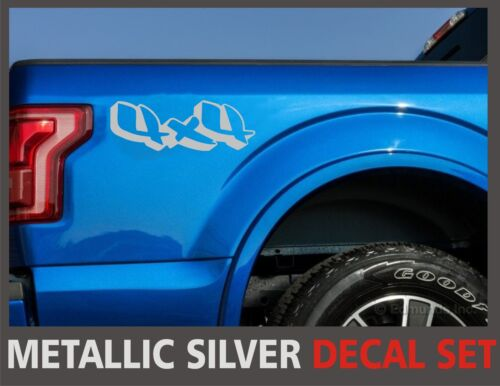 for Ford F-150 4x4 Truck Bed Decals Set and Ranger Silver Super Duty