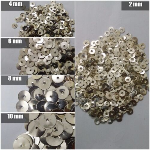 10000 SEQUINS PAILLETTE SPANGLES 2mm 4mm 6mm 8mm 10mm Flat Round Sewing Craft