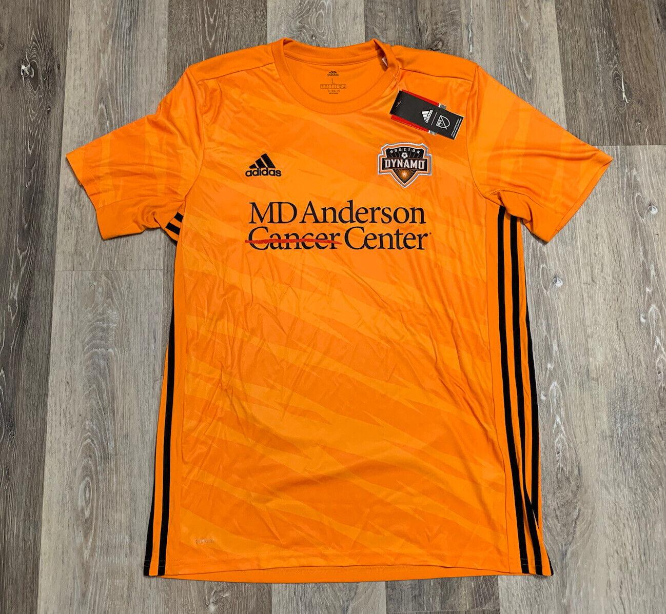 2020 adidas Men's MLS Houston Dynamo Home Soccer Jersey Size ...