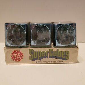General Electric GE Super Cube Pack (3) Flash Bulbs 3 cubes 12 Flashes Sealed Pk