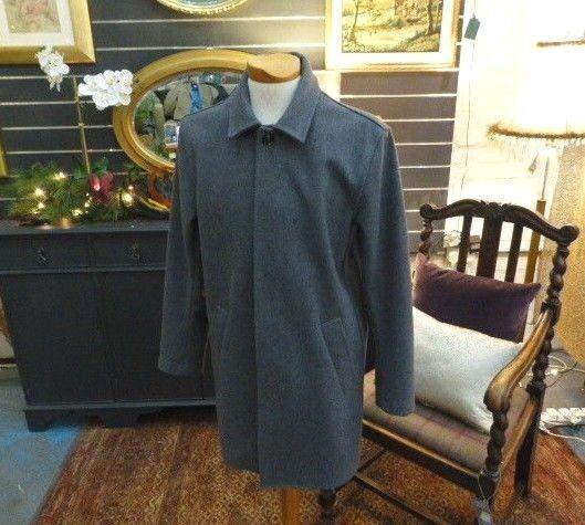 Hardy Amies Grau Wool Crombie/Car Coat 38