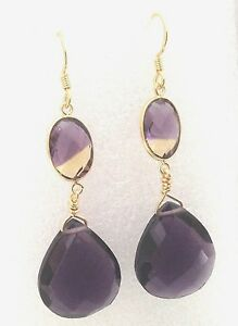 Sterling-Silver-Amethyst-Quartz-Earrings