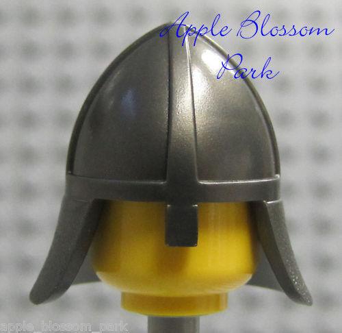 ☀️NEW Lego Boy//Girl Minifig Hat Metallic Silver Castle Knight Nose Gaurd Helmet