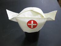 Retro Nurse Hat Cap Uniform Costume Gag Gift Prop Hospital Doctor Dress Up